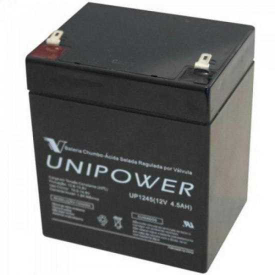 Bateria Estacionária Selada 12V/4,5A VRLA UP1245 UNIPOWER