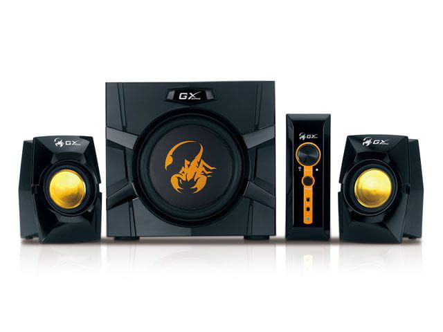 Caixa de som gx gaming genius 31731016103 sw-g2.1 3000 2.1ch 70 rms gaming speaker system