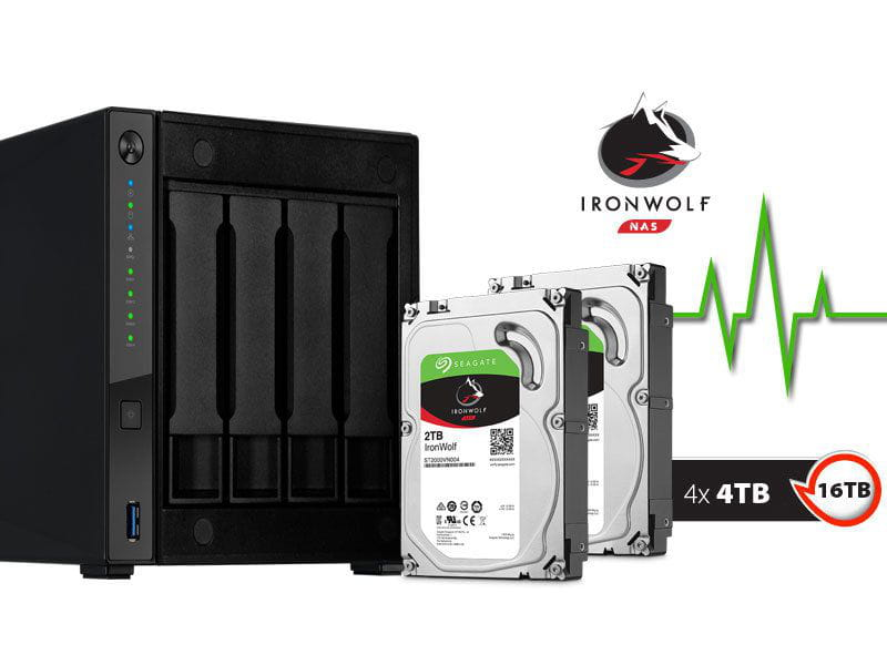 Storage NAS Asustor AS4004T16000 marvell  1,60ghz 2gb ddr4 torre 16tb hot-swap