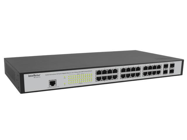 Switch 24 Portas Intelbras Gerenciavel Gigabit Ethernet + 4 Port - SG2404MR