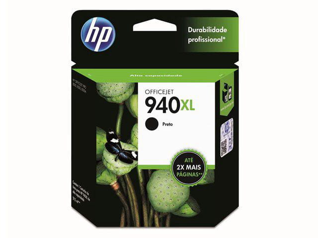 Cartucho De Tinta Officejet Hp Suprimentos C4906ab Hp 940xl Preto 59,5ml