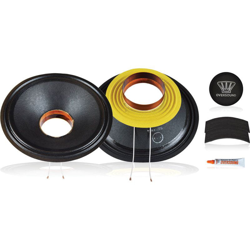 Kit P/ Reparo Medio Grave  8 Pol. de 400wrms 8ohms - Mg8/800 Oversound
