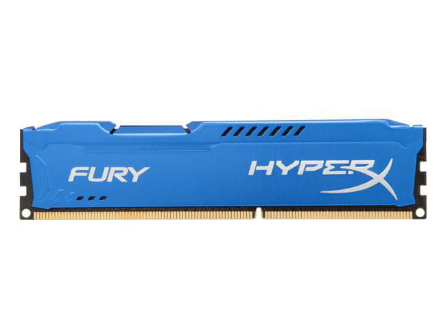 Memoria desktop gamer ddr3 hyperx hx318c10f/8 fury 8gb 1866mhz ddr3 non-ecc cl10 240-pin udimm blue