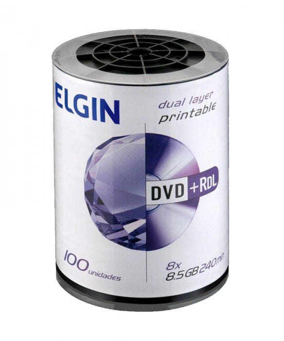 DVD+R DUAL LAYER PRINTABLE ELGIN 8.5/240/8X C/100