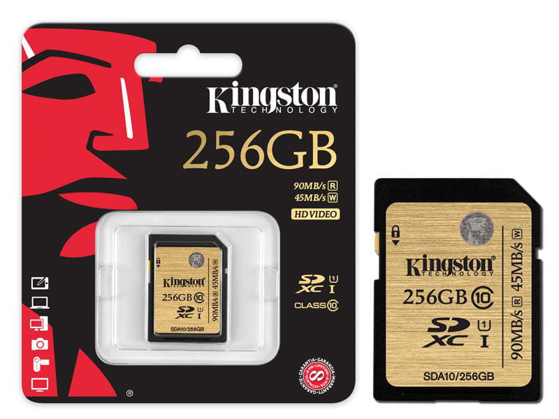 Cartao de Memoria 256GB Classe 10 Kingston SDXC UHS-I U3 Ultimate - SDA3/256GB