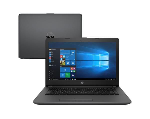 Notebook hp 246 g6 i3-7020u 4gb/500gb/win 10 home - 3xu35la#ac4