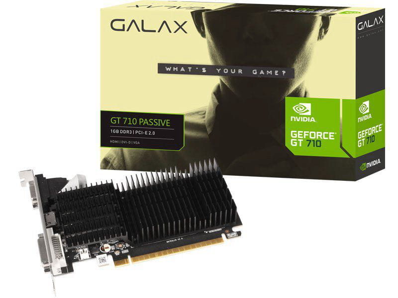 Galax Geforce Gt Mainstream Placa De Video Galax 71ggf4dc00wg  Gt 710 1gb Ddr3 64bit 1000mhz Dvi Hdmi Vga