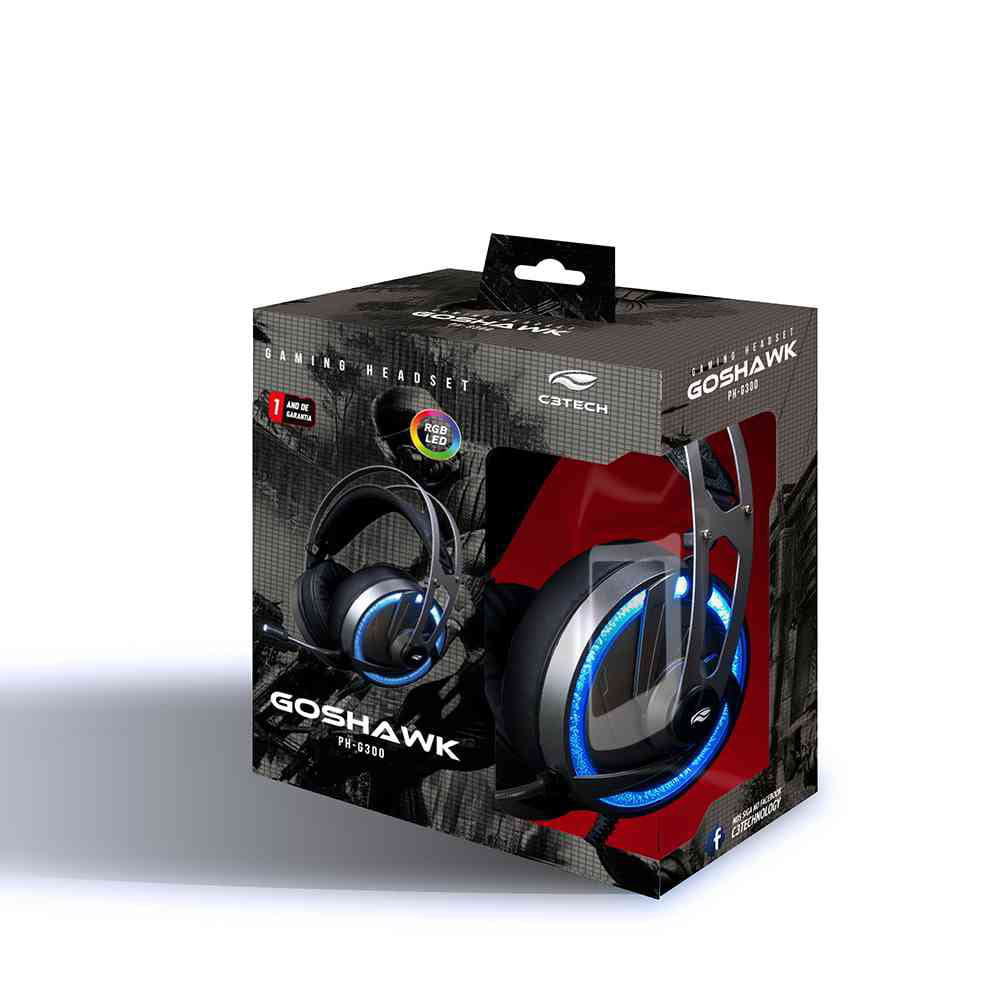 HEADSET GAMER C3 TECH RGB GOSHAWK - PH-G300SI