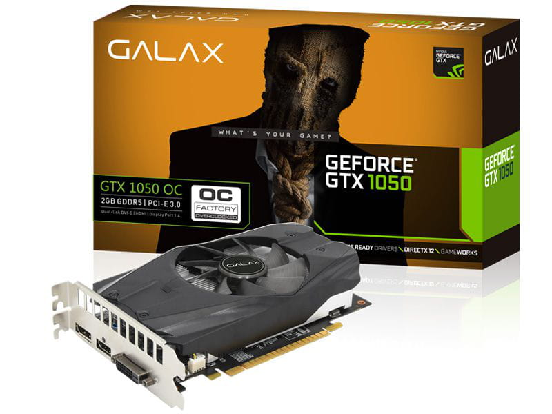 Placa de Video Nvidia GTX1050 Galax Performance OC 2GB GDDR5 128b - 50NPH8DSN8OC