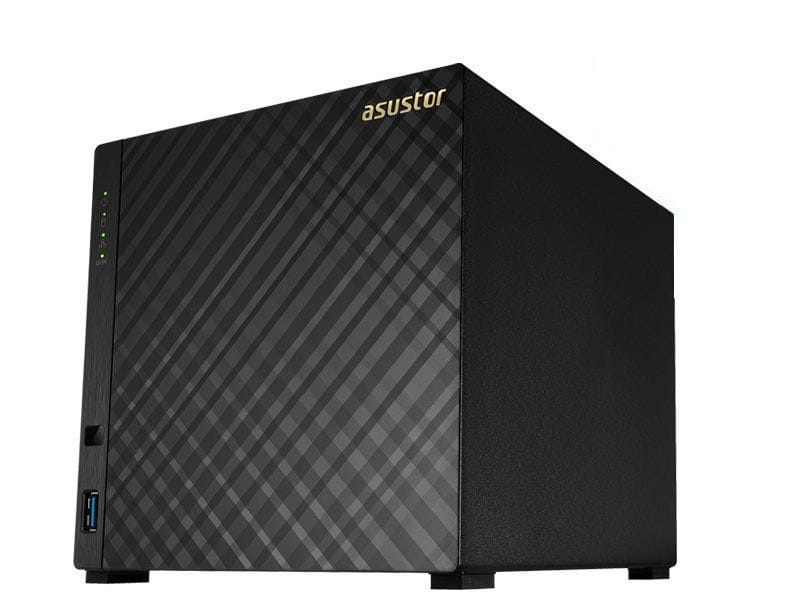 Storage NAS Asustor AS1004T v2 marvell dual core 1,6 ghz 512mb ddr3 torre 04 baias