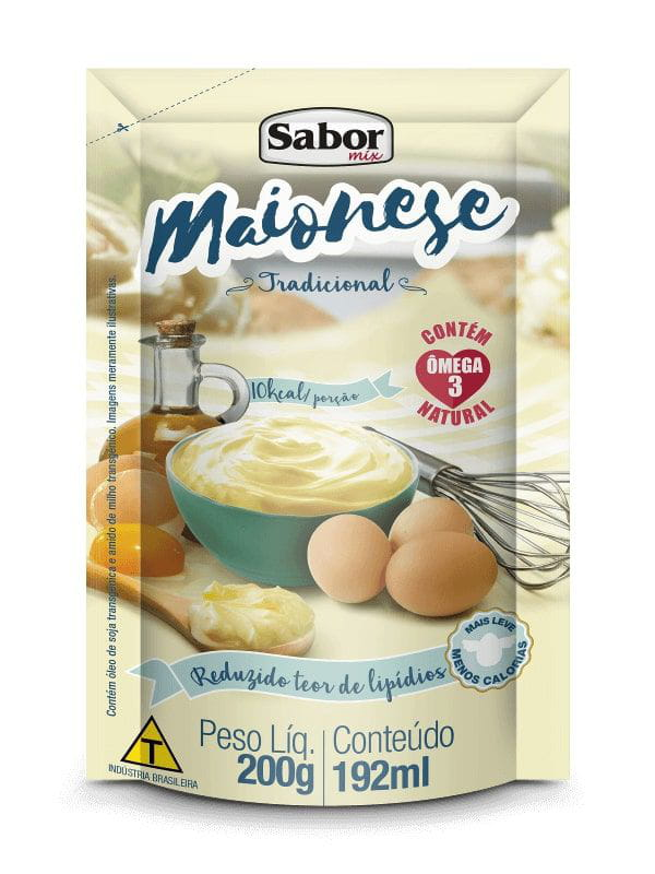 Maionese Pouch 200g Sabor Mix