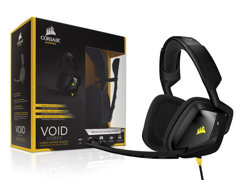 Headset Corsair Void 2.0 Gamer Stereo Preto - CA-9011131-NA