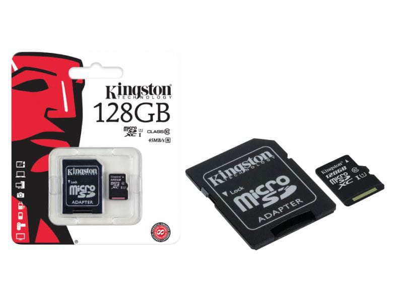 Cartao de memoria classe 10 kingston sdc10g2/128gb micro sdxc 128gb com adaptador sd