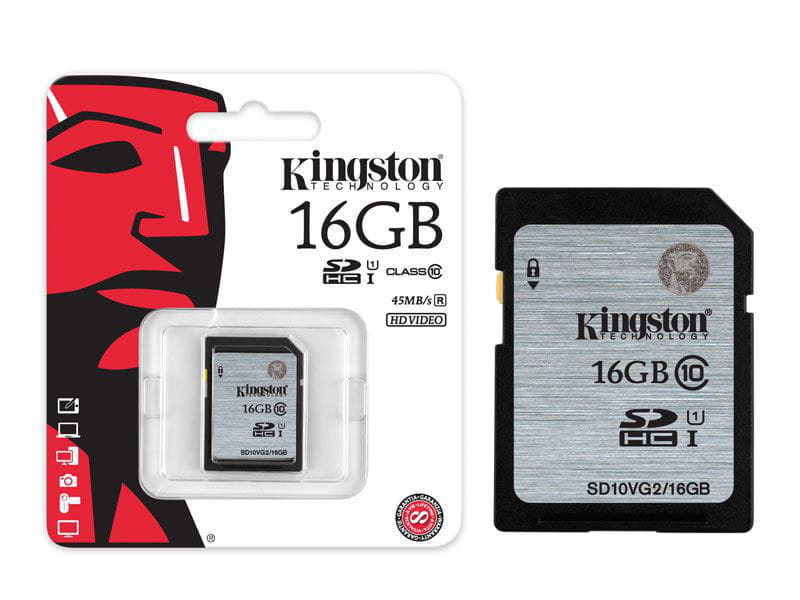 Cartão de Memoria Classe 10 Kingston SD10VG2/16GB Secure Digital SDHC 16GB UHS-I