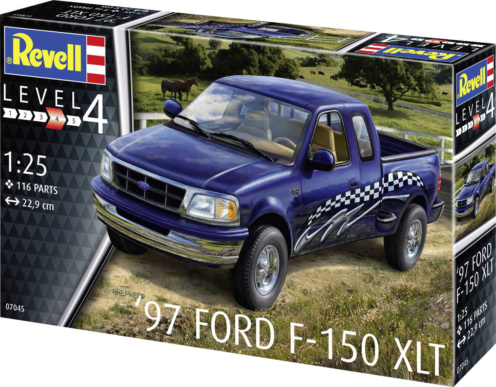 97 FORD F-150 XLT 1:25 REV07045 - KIT PARA MONTAR
