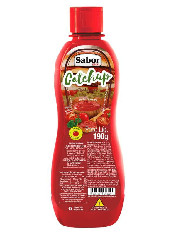 Catchup 190g Sabor Mix