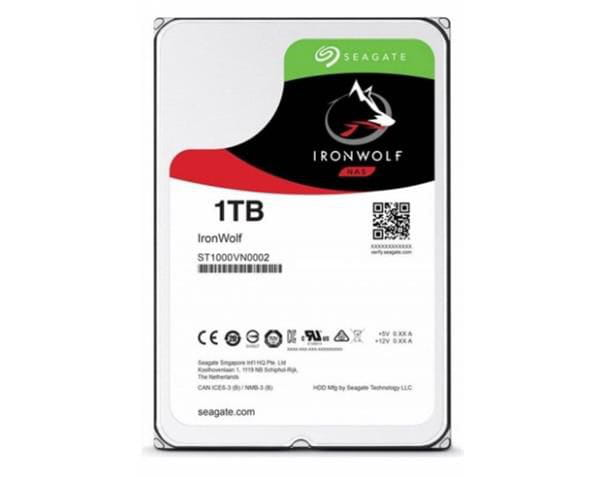Hdd seagate ironwolf 1 tb p/ nas - st1000vn002
