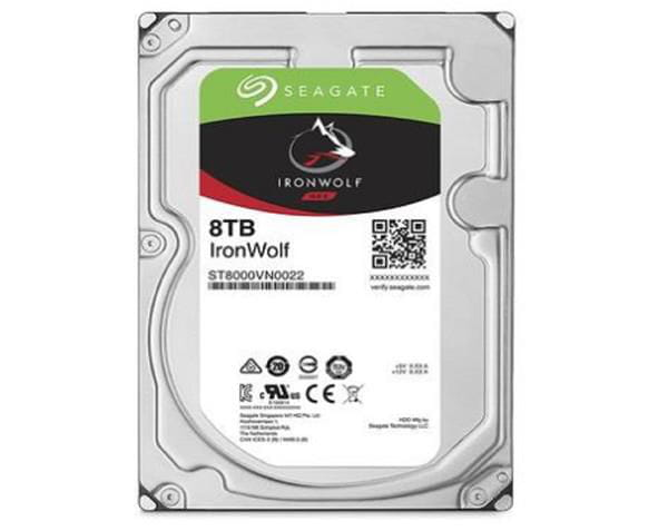 Hdd seagate ironwolf 8 tb p/ nas - st8000vn0022