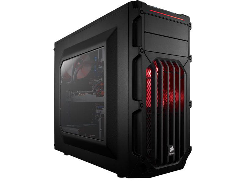 Gabinete gamer corsair cc-9011052-ww carbide series spec-03 shade red led