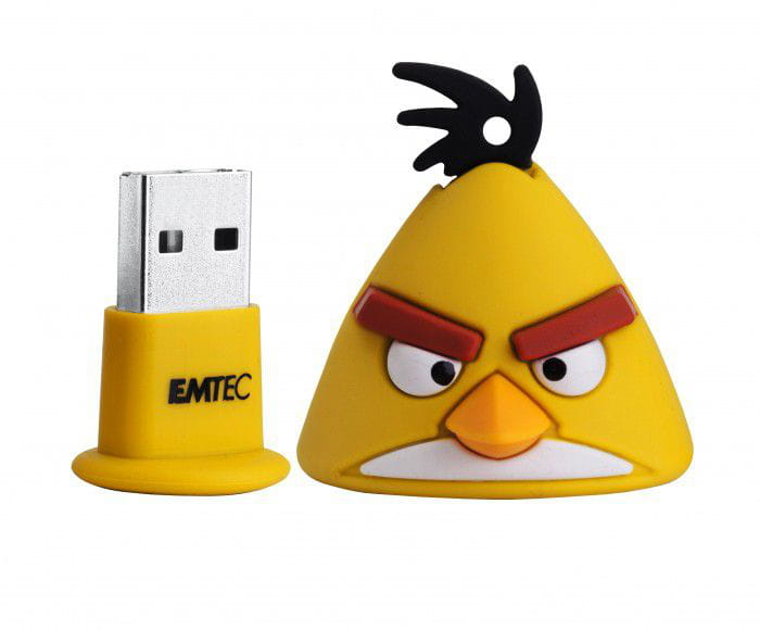 PEN DRIVE ANGRY BIRD 8GB - YELLOW BIRD