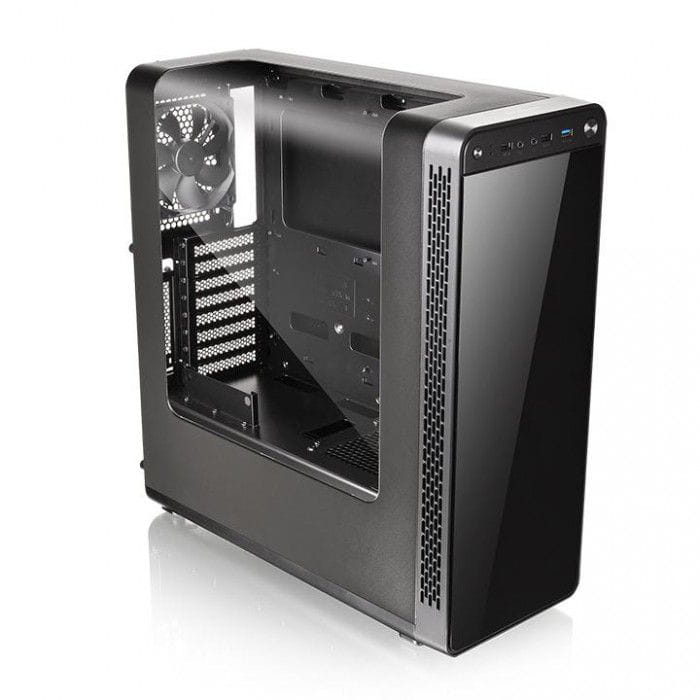 Gabinete Thermaltake View 27 Window Black com 3 x Riing 12cm Red - CA-1G7-00M1WN-RE