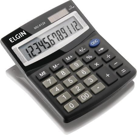 Calculadora de Mesa Elgin Com 12 Dígitos - MV-4124