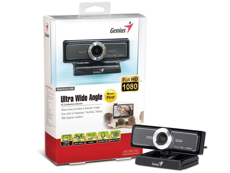 Webcam Genius Widecam F100 Tl FullHD Ultra Wide - 32200213101