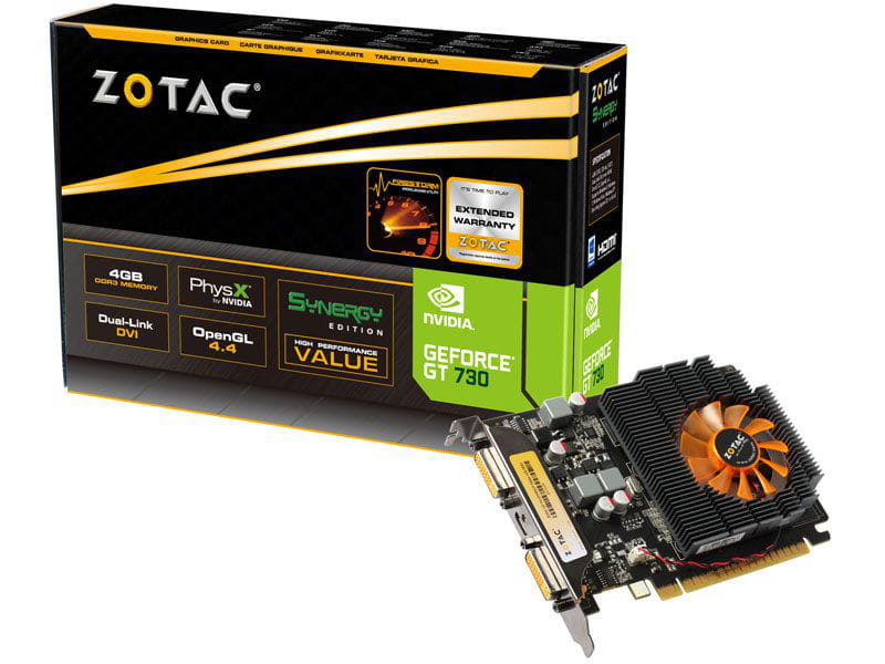 Placa de Video Nvidia GT730 Zotac Mainstream 4GB DDR3 128bit 96 Cuda Cores - ZT-71109-10L