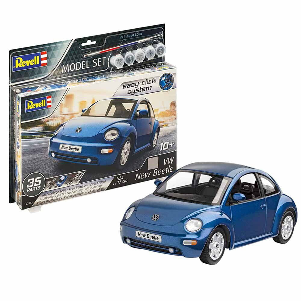 Carro VW New Beetle 1:24 REV 67643 - Kit Completo para Montar (Model Set)