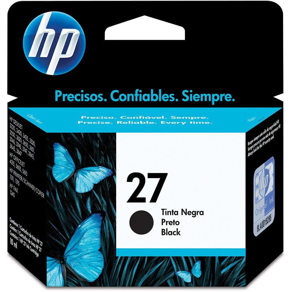 CART. TINTA HP (27) 3420 PRETO (C8727) ORIGINAL