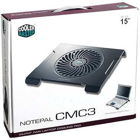 Base para Notebook Cooler Master CMC3 1 FAN 200MM Preto R9-NBC-CMC3-GP