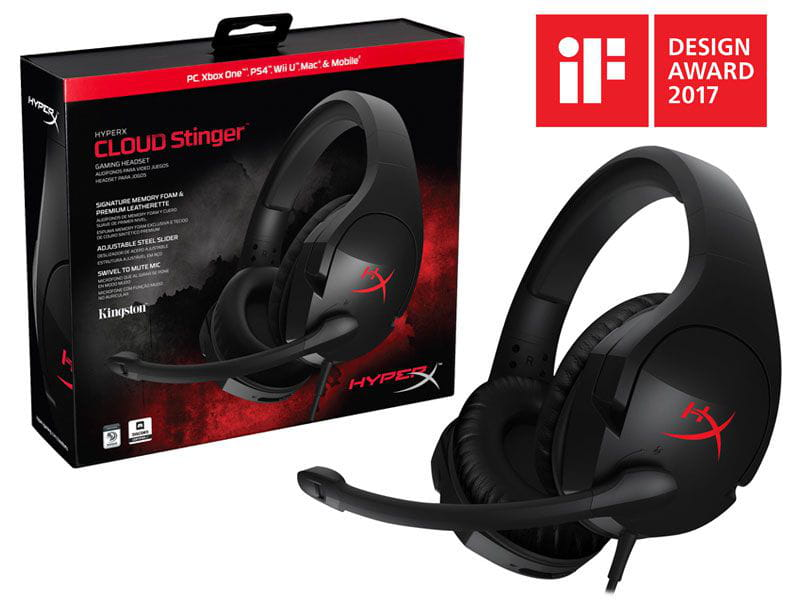 Headset Gamer Hyperx Cloud Stinger Preto - HX-HSCS-BK