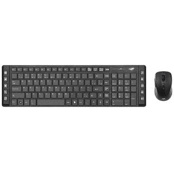 Kit teclado e mouse c3tech k-w50b wireless  - k-w50bk