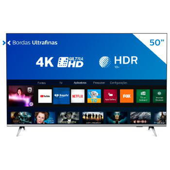 Tv 50p philips led smart 4k usb hdmi - 50pug6654