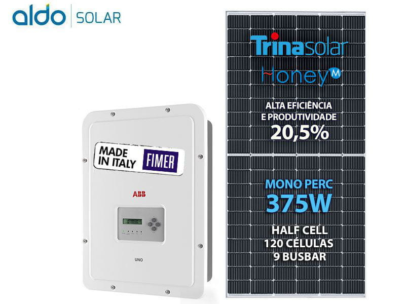 Gerador De Energia Solar Fimer Abb Rosca Dupla Madeira Romagnole Fimer Abb Gf 3kwp Trina Mono Perc Half Cell 375w Uno 3.3kw 2mppt Mono 220v