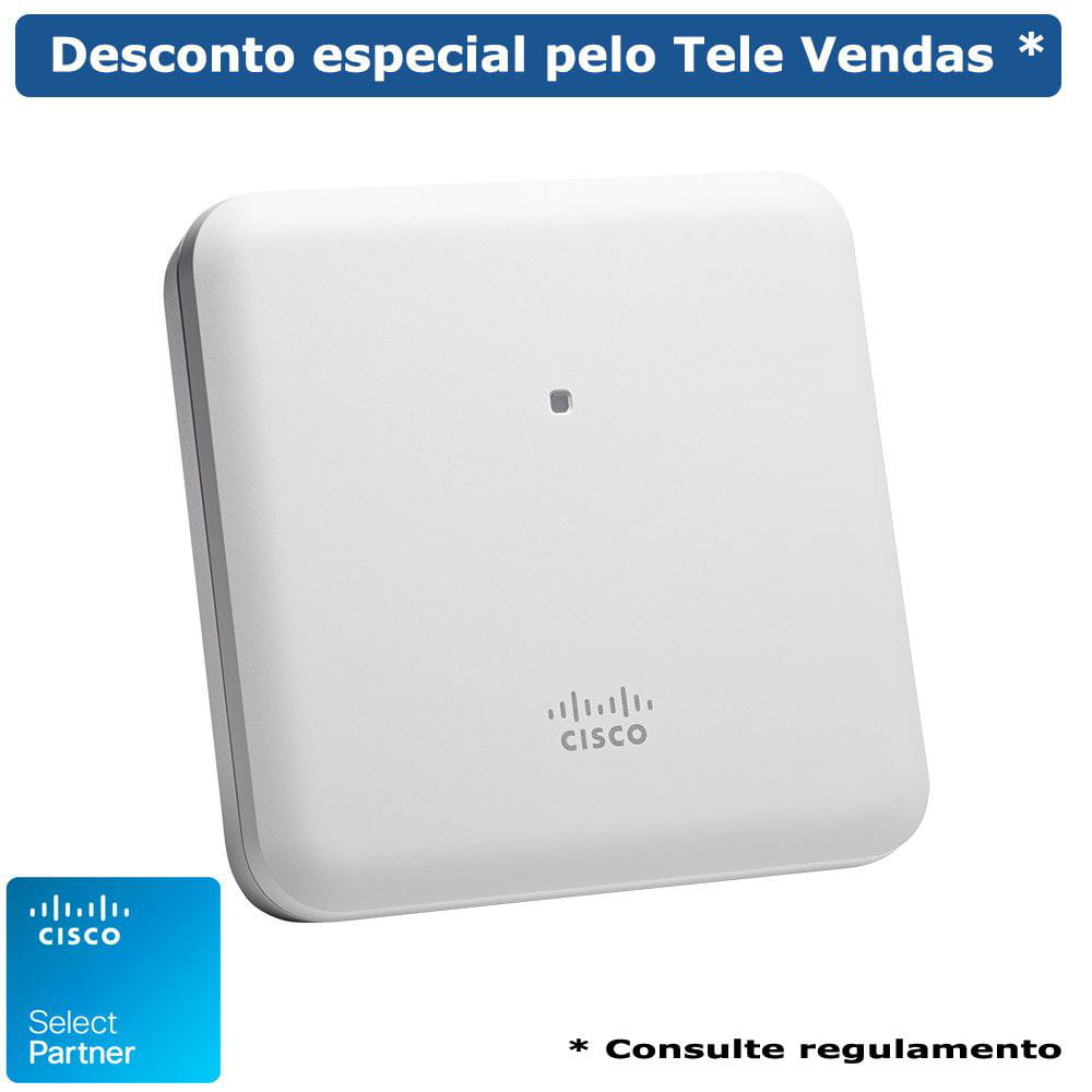 Access Point Cisco AIR-AP1852I-Z-K9-BR - 802.11ac Wave 2; 4x4:4SS; Int Ant; Z Reg Dom
