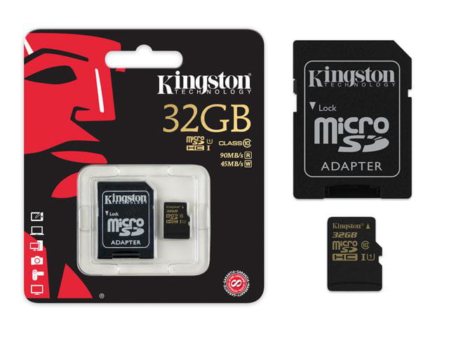 Cartao de memoria classe 10 kingston sdca10/32gb micro sdhc 32gb com adaptador sd uhs-i