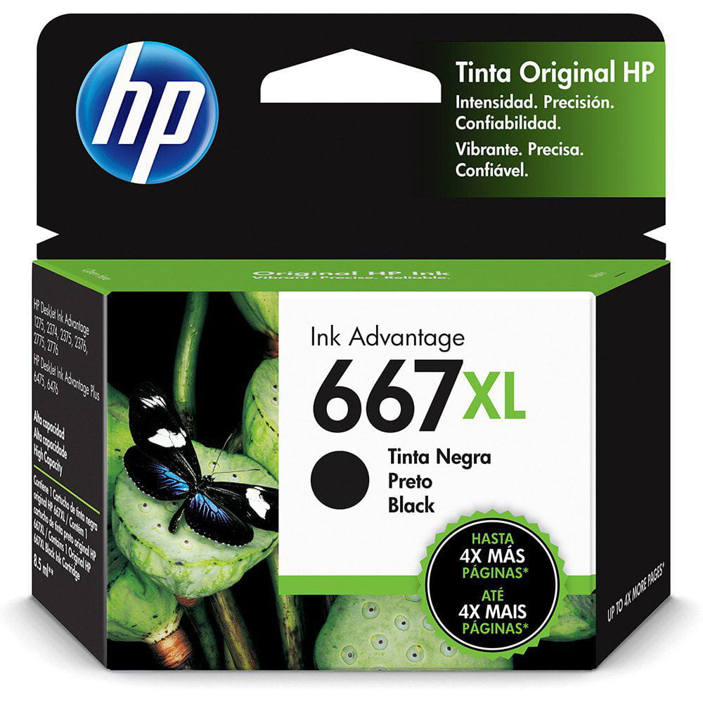 Cartucho HP 667XL Preto 3YM81AL 8,5ml