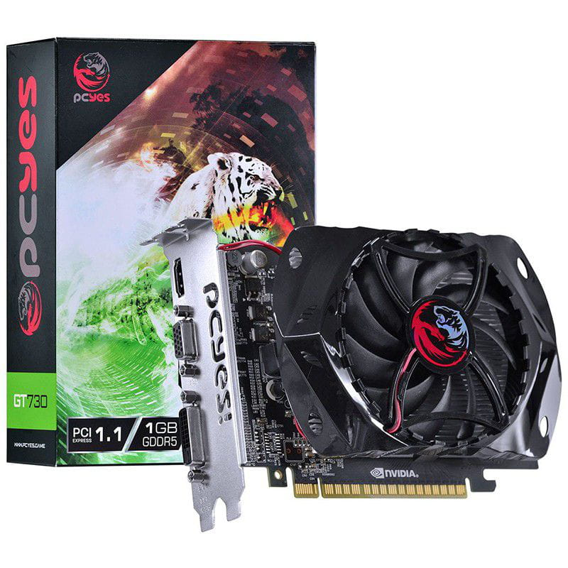 Placa de Video PCYES Nvidia GT730 1GB GDDR5 Gaming Edition - PY730GT12801G5