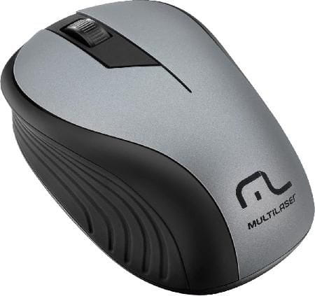 Mouse Multilaser Sem Fio 2.4GHz USB 1200DPI Plug And Play Preto/Grafite - MO213