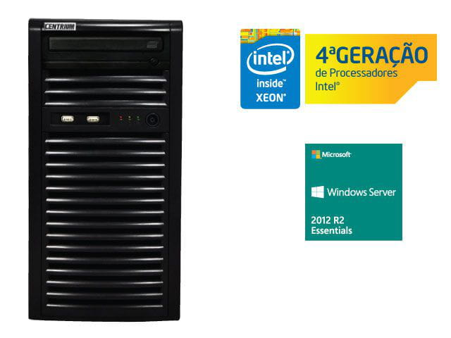 Servidor torre intel windows server centrium sc-t1200 quad core xeon 1231v3 3.4ghz 4gb udimm 500gb 2012 essentials 25 usuarios