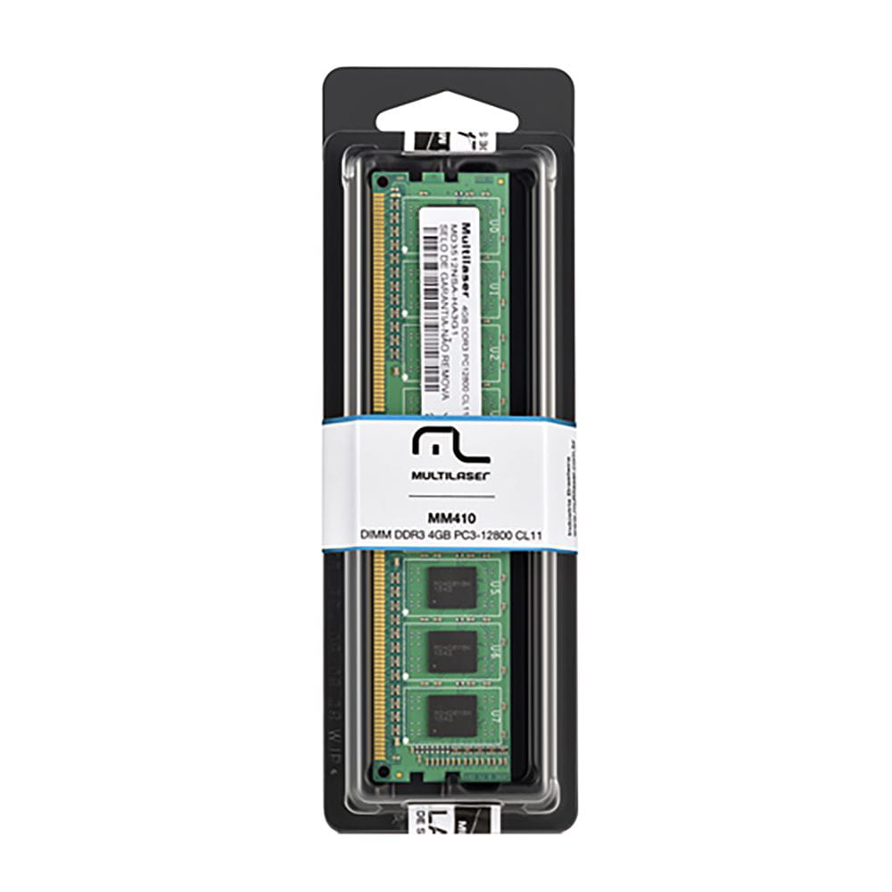 Memória Desktop Multilaser DDR3 4GB MM410