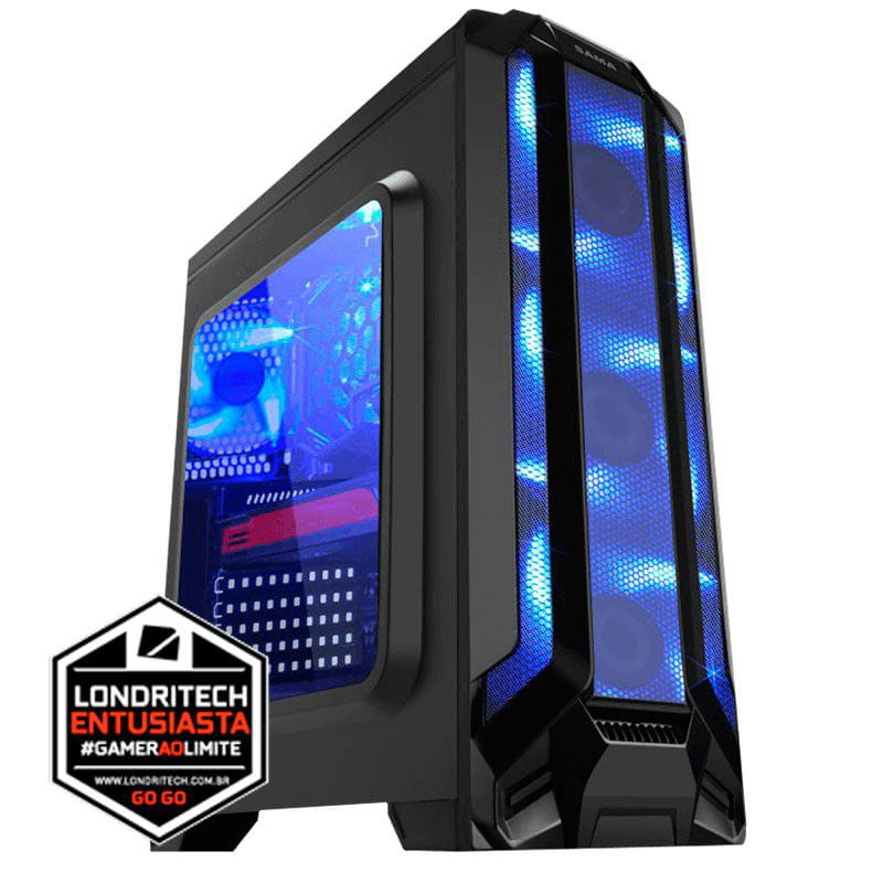 COMPUTADOR LONDRITECH INTEL I7 7700 3.60GHz, PLACA B250, MEMÓRIA 16GB, SSD 240GB + HD 1TB, PLACA DE VÍDEO GTX1060 6GB, FONTE 500W 80 BRONZE PLUS
