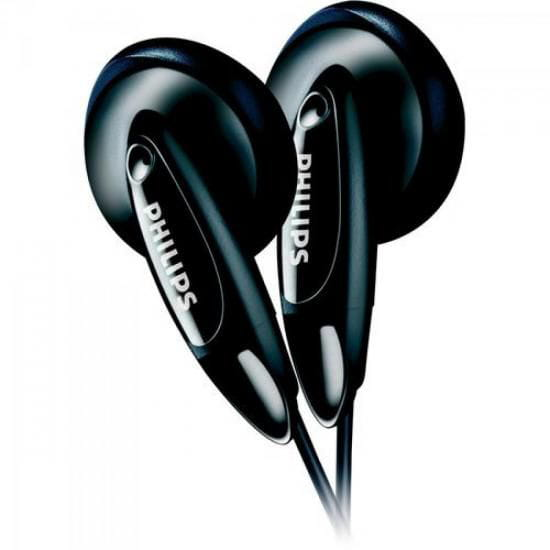 Headphone Philips Intra-auricular SHE1360/55 Preto - 31220