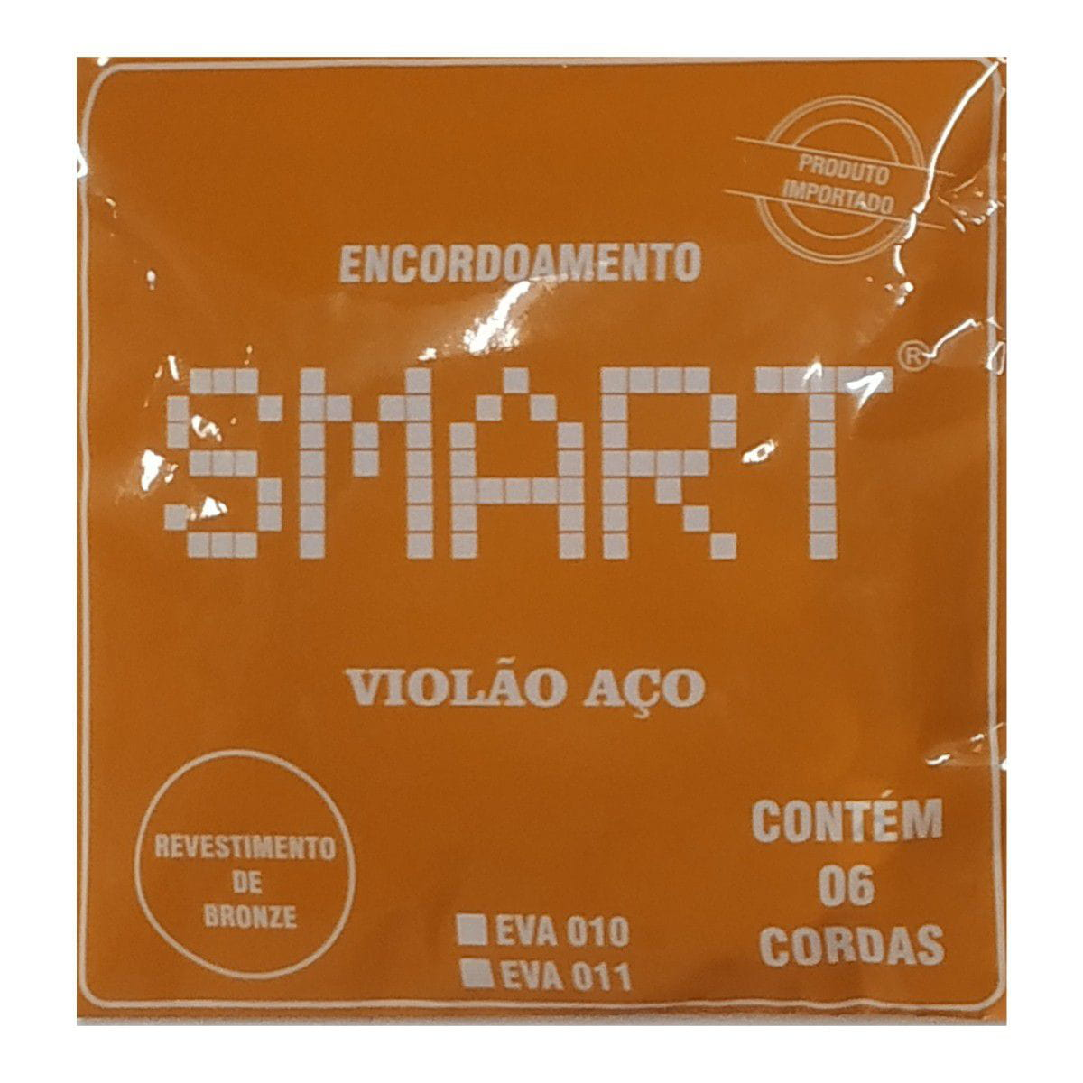 Encordoamento para Violão Aço Smart supersonora-pocket