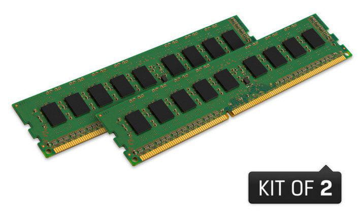 Memoria desktop ddr3 kingston kvr16ln11k2/16 16gb kit (2x8gb) 1600mhz ddr3 non-ecc cl11 udimm low voltage 1.35v