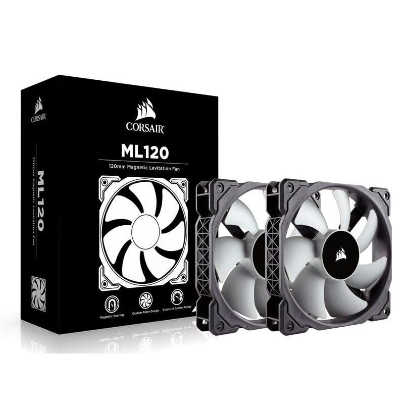Microventilador para Gabinete Corsair ML120 120mm Twin Pack c/ 02 UND - CO-9050039-WW