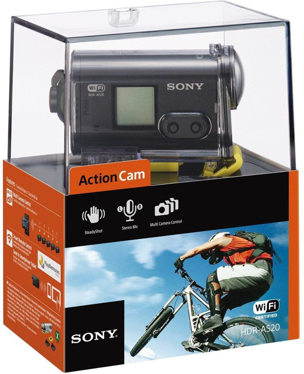Filmadora Sony Action Cam Hdr-as20 11.9 Mp Wifi Full Hd