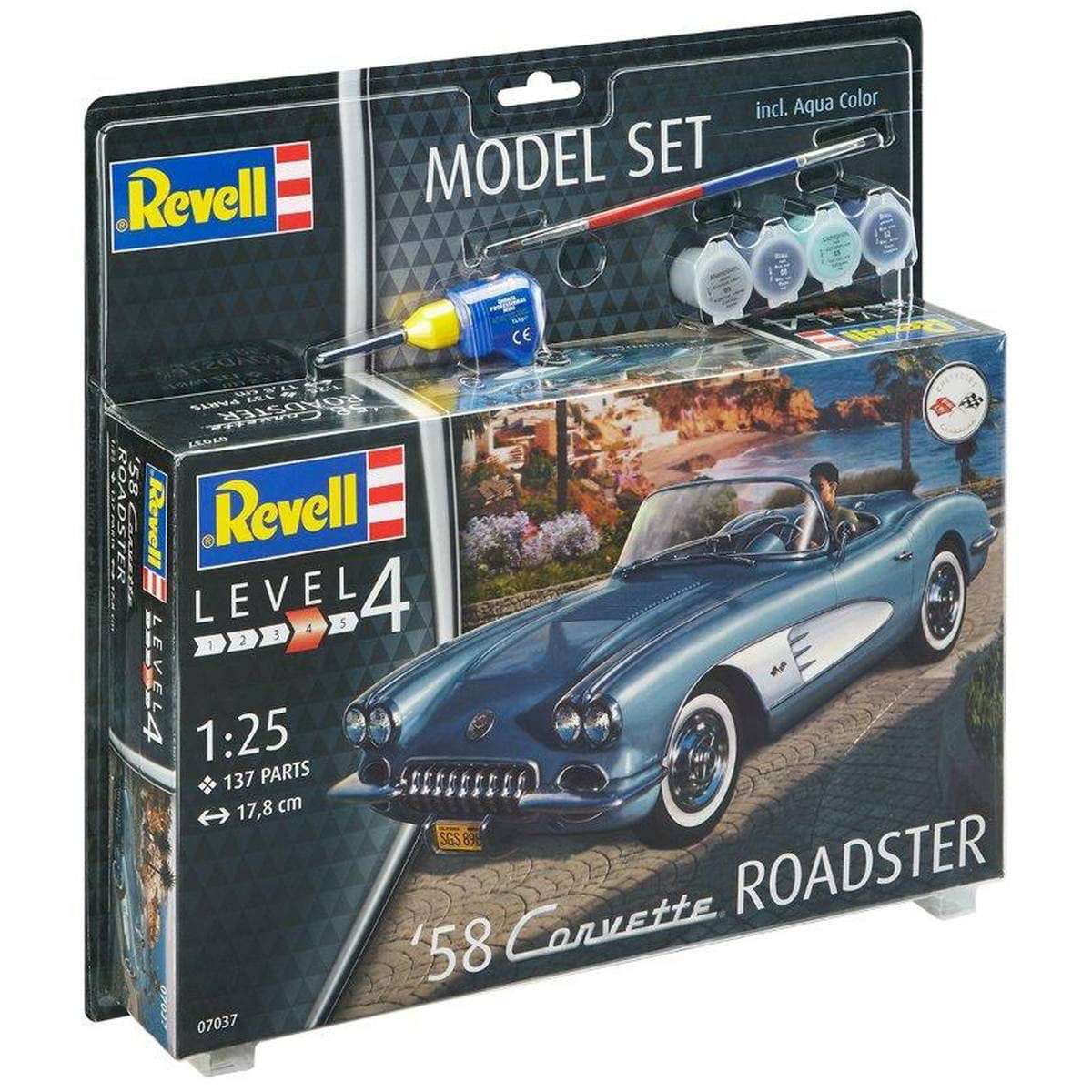 58 CORVETTE ROADSTER 1:25 REV67037 - KIT COMPLETO PARA MONTAR (MODEL SET)