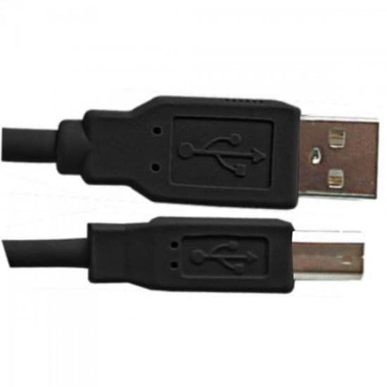Cabo USB 2.0 A Macho + B Macho Plus Cable 1,8 Metros Preto - 35529
